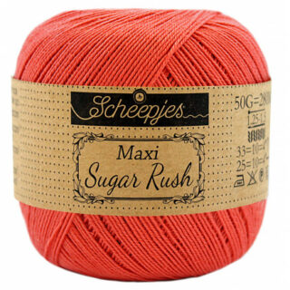 Scheepjes Maxi Sugar Rush Garn Unicolor 252 Water Melon