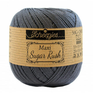 Scheepjes Maxi Sugar Rush Garn Unicolor 393 Charcoal