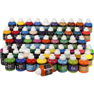 A-Color akrylmaling , ass. farver, 57x500ml