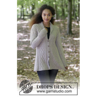 Morgans Daughter Jacket by DROPS Design - Jakke Strikkeopskrift str.