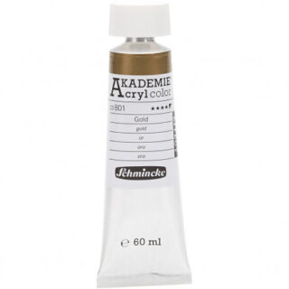 Schmincke AKADEMIE® Acryl color, Gold (801) , semi-opaque, good fade r