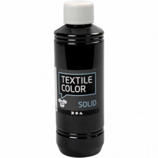 Textile Solid, sort, dækkende, 250ml